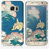 Coque Samsung Galaxy S7 Edge de chez Skinkin - Design original : Peonies and Canary par Katsushika Hokusai