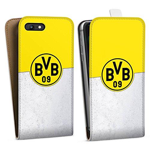 Apple iPhone X Silikon Hülle Case Schutzhülle Borussia Dortmund Fanartikel BVB Downflip Tasche weiß