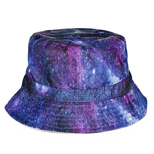 Fischerhut Bucket Hat Sonnenhut Print Galaxy Stars Sterne Mod.3 (Hip-hop-galaxie Hat)