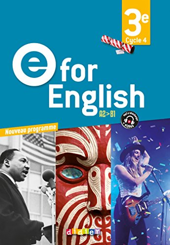 E for English 3e (d. 2017) - Coffret classe 2 CD audio + 1 DVD
