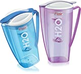 #2: Flair® H2O BPA Free 2.5 ltr Plastic Covered Pitcher Food-Grade PC Material Beverage Pitcher Container Water Bottle Juice Jug Great for Cold Water, Ice Tea, Juice, Fruit and Beverages Water/Juice Unbreakable pitcher jug Set Of 2