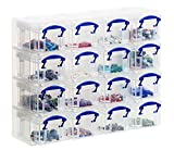 Really Useful Organiser, 16 x 0.14 Litre Storage Boxes in a Clear Plastic