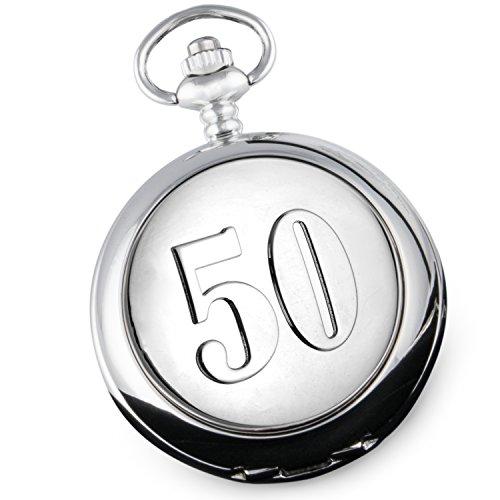 Reloj de Bolsillo de 50 años de Oro para Aniversario de Boda