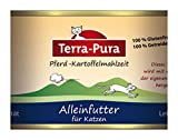 6er-SET Katzenfutter -Nicht Bio- Pferd-Kartoffel-Mahlzeit 200g Terra Pura