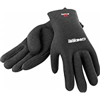 Cressi High Stretch Gloves, Guanti in Neoprene 2.5 mm per Apnea e Immersioni, Unisex Adulto, Nero/Rosso, M