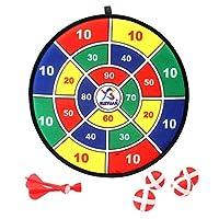 مجموعة ألعاب رمي السهام للأطفال مع 6 كرات و6 أسهم لعبة طاولة للأطفال للاستخدام في الأماكن المغلقة أو الأطفال أو هدية عيد الميلاد أو كهدية 30 سم