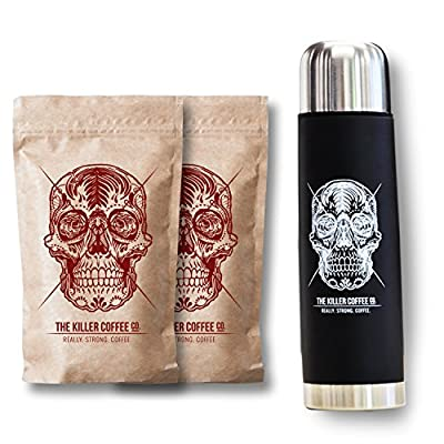 Killer Coffee beans 2x200g + flask from The Coffee Galleria Pty Ltd