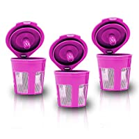 , Premium Quality Mesh Solo Serve Reusable Coffee Filter Pods in Hot Pink