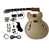 gd230 acajou SEMI corps creux guitare électrique à bricoler soi-même Kit pour Student and luthier projets Grand guitare solide acajou / Tilleul avec érable Veneer