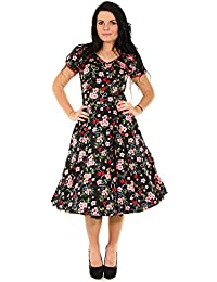 Cherry Blossom Rockabilly Flared Dress