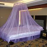 #8: Neruti Enterprise Nylon Adults Double bed (Round) Mosquito Net(Purple)