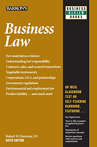 Business Law (Barron's Business Review) (English Edition)
