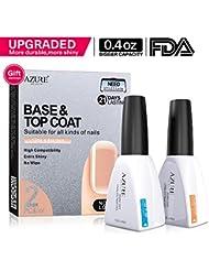 Azure Beauty Base Coat und Top Coat für UV LED Gel Nagellack LED Nagel Lampe 0,4 Unze Große Kapazität