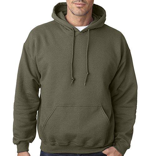 Plain Military Green Army colour Hooded sweatshirts, Army Military Green Military Green Large
