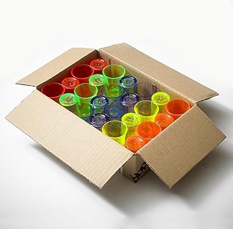 Plastic Shot Glasses, - 25ml/2.5cl | Mixed Colours, Polystyrene Drinkware Range by Glassjacks