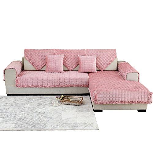 New day®-Inverno divano peluche cuscino anti - scivolo divano in tessuto cuscino , 110*210cm