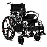 RDJM Elektrischer Rollstuhl, Intelligente Automatische,Faltrollstuhl, Frei-Reiten, Reiserollstuhl