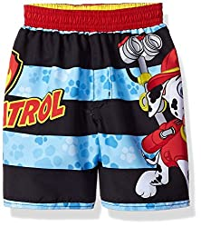 Paw Patrol Little Boys Toddler Nickelodeon Swim Trunk with Stripes