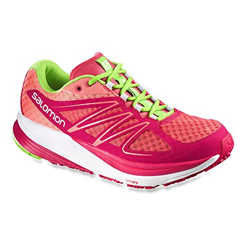 Salomon Sense Pulse, Scarpe da corsa Donna Papaya-B / Lotus Pink / Granny Green