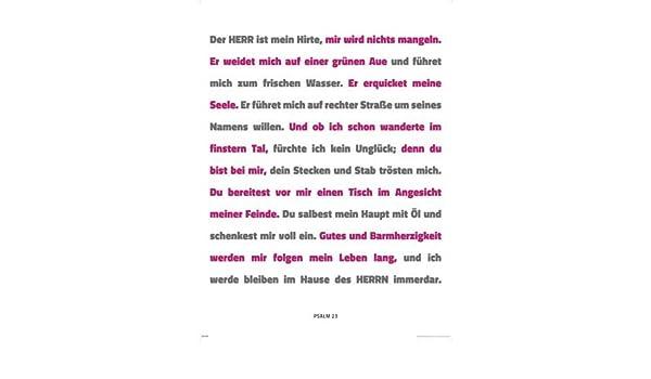 picture regarding Printable 23rd Psalm identified as Motivational Artwork Print Psalm 23 + Even further Merchandise [German