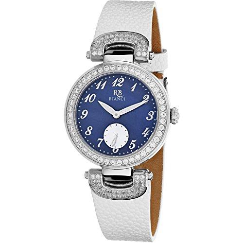 Roberto Bianci Women's Alessandra 31mm White Leather Band Quartz Watch RB0614