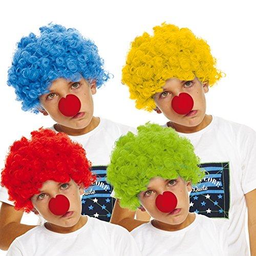 AEC - AQ04186 - Clownsperücke für Kinder - farblich sortiert