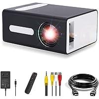 Pro-Projektor, Maxsooner tragbarer Mini-Projektor für Mobilgeräte Kompatibel mit USB HDMI TF AV 3,5-mm…