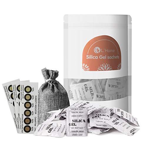 5 g × 50 L'Home bustine gel di silice Essiccante packets-regenerative (comprende borsa e tre umidità Cards)