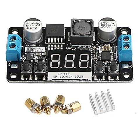 DROK® DC/DC Micro LM2596 DC 5-32V à 0-30V Buck Converter DIY Reglable Output Voltage Transformer Step-down Abaisseur Tension Wandler Convertisseurs Power Supply Module Board Régulateur Numérique LED Display Voltmètre