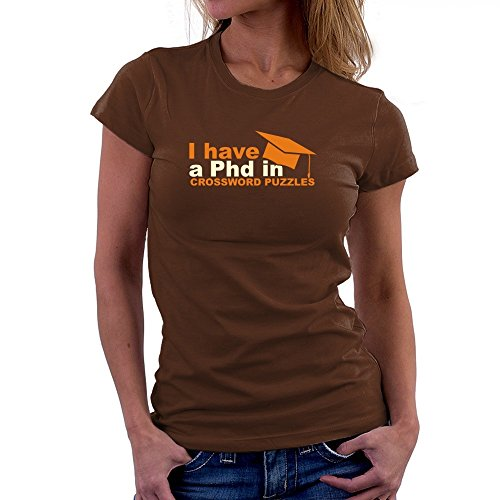 Teeburon I have a Phd in Crossword Puzzles Camiseta Mujer