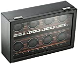 Wolf 459356 Roadster 8 Piece Watch Winder Black