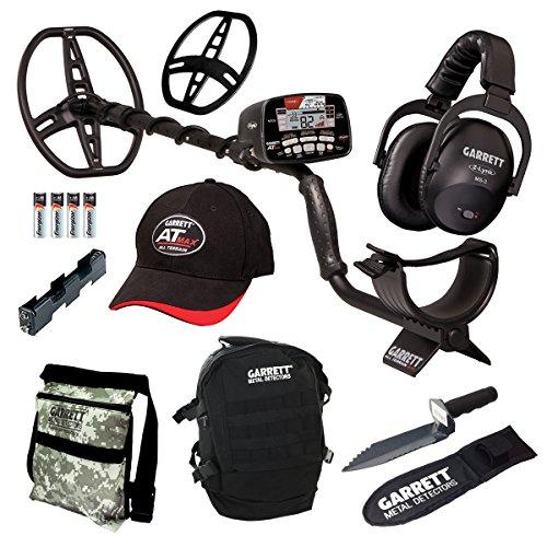 Garrett at Max Diggers Special mit kabellosen Kopfhörern, Tagesrucksack, Baggertasche -