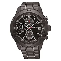 Seiko Gents Chronograph Black Ion Watch