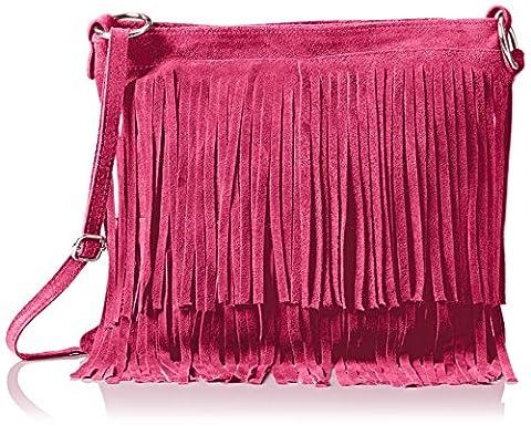 Girly Handbags Womens Daniela Cross-Body Bag Fuchsia