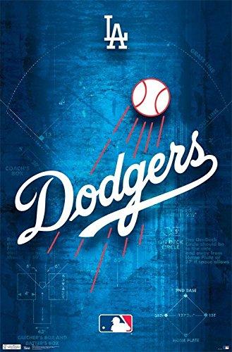 Los Angeles Dodgers Team Logo Baseball MLB Poster RP8634 (Dodgers Bild)