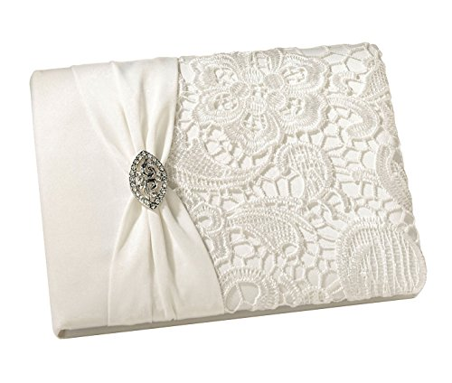 Lillian Rose Vintage Lace Guest Book – Cream Gb720 C