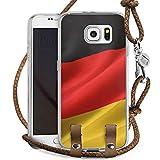 Samsung Galaxy S6 Carry Case Hülle Zum Umhängen Handyhülle mit Kette Germany Deutschland Flagge