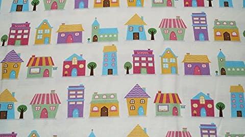 Baby Kinder Kopfkissenbezug 100% Bio-Baumwolle GOTS 1-2 er Pack 11 Farben Kissenbezug Kissenhülle Jersey 40x60cm (Häuser Gewirkt)