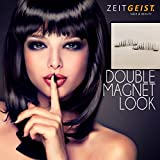 Doppel Magnet Wimpern, Falsche Wimpern mit Magnet, Dual Magnetic Eyelash, Künstliche Wimpern magnetisch, ganzer Wimpernkranz, volles Volumen, sehr lang - Elegant Look