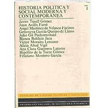 HISTORIA POLÍTICA Y SOCIAL MODERNA Y CONTEMPORANEA. TOMO II