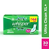 #4: Whisper Ultra Clean Sanitary Pads - 30 Pieces (XL Plus)