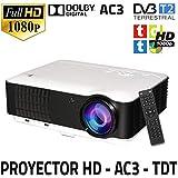 Projecteur de Haute définition unicview HD200avec TNT, USB, HDMI, VGA, AC3, Résolution Pajero Sport HD