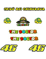 PEGATINAS TRIBU CHIHUAHUA ROSSI VR46 R328 STICKERS AUFKLEBER DECALS AUTOCOLLANTS ADESIVI (AMARILLO)