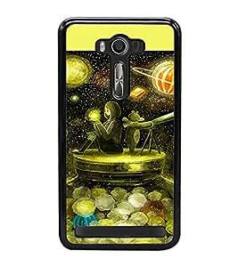 PrintVisa Designer Back Case Cover for Asus Zenfone Selfie ZD551KL (Scope Lady Universe Jar Moon )