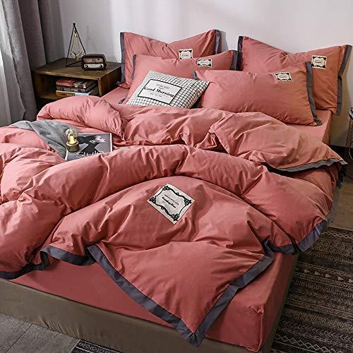 4-teiliges Set auf dem Bett, hypoallergene Bettwäsche aus 100% Baumwolle. Genähter Bettbezug mit Mikrofaserfüllung in voller Größe 1 Bettbezug + 1 Bettlaken + 2 Kissenbezüge,200*230cm/787*90in (Bett In Größe Ein Bettwäsche Voller Für)