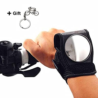 West Biking Riding Bicycle Rear-view Mirror Reflector Wristband Rear Vision Mirror For Cyclists - cheap UK light shop.