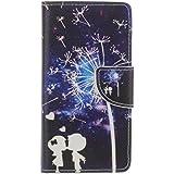 Guran® Pintado Funda de Cuero Para Wiko Rainbow Jam 3G Smartphone Tirón de la Cubierta de la Función de Ranura Tarjetas y Efectivo Caso-amor
