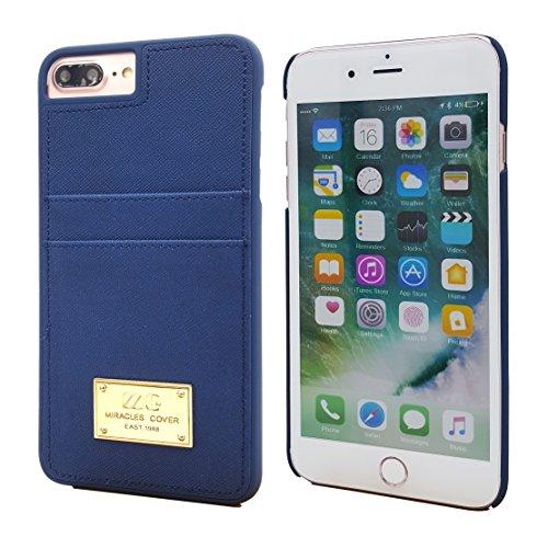 iPhone 7Plus Case, Leder Wallet Case mit Karte Pillendose für iPhone 7Plus 14cm, dunkelblau