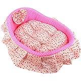 Tera® lit rose princesse +matela pour chien/ chat (S)(47 x 40cm)