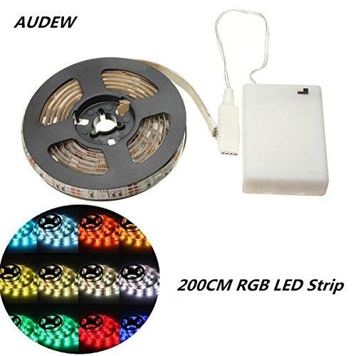 audew-200cm-ruban-led-a-pile-rgb-etanche-ip65-5050-60led-mode-declairage-couleur-luminosite-vitesse-